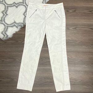 Rebecca Taylor White Paisley Pants Size 6